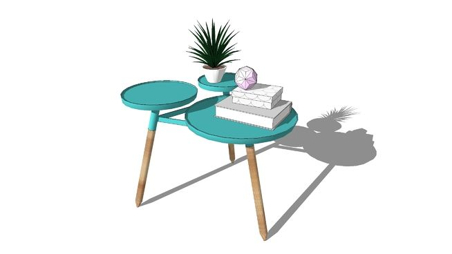 Mid century side table - 3D Warehouse