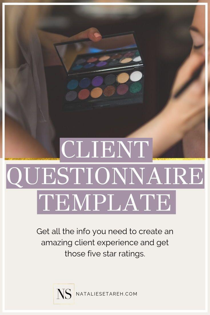 Makeup Artist Client Questionnaire