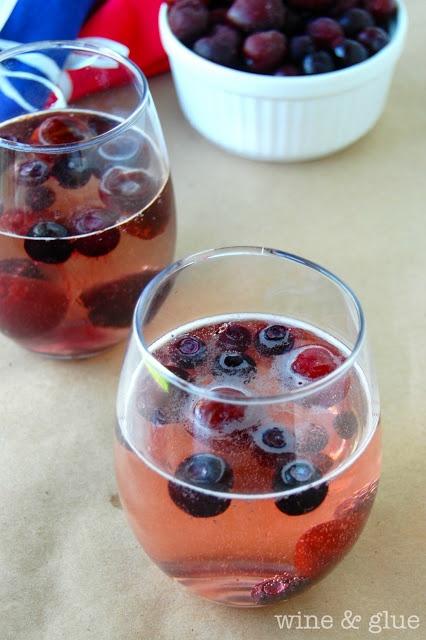 Red Wine & Blue Summer Spritzer.