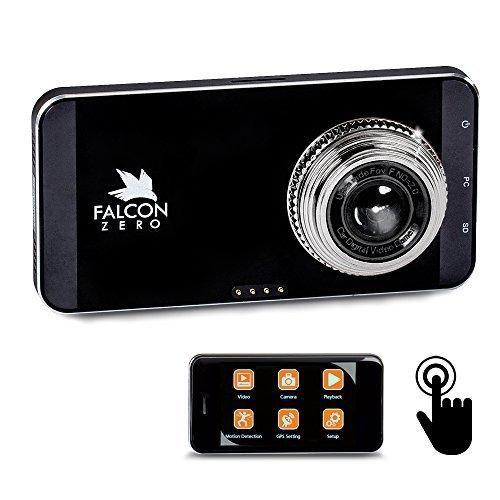 Falcon Zero Touch PRO HD Dash Cam [TOUCH SCREEN] 1080p 24/7 Surveillance Multi Vehicle Use 32 GB SD Card Included