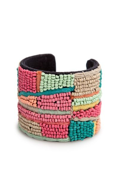 MANGO - TOUCH - Beads embroidered cuff