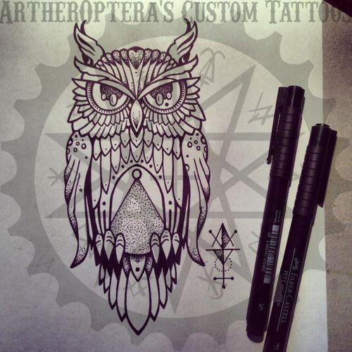 illuminati owl drawing
