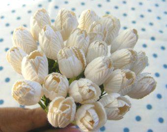 10 tulipanes tulipanes de papel mulberry de por eastmeetswest