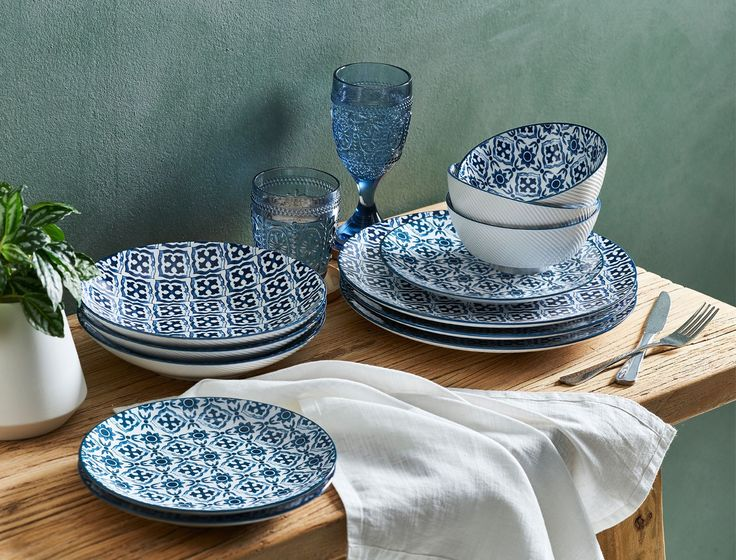 Ozan Dining, Plates, Bowls, Ink, White