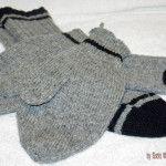 Smoke-(Grey)-with-Black-Stripes Socks & Mittens