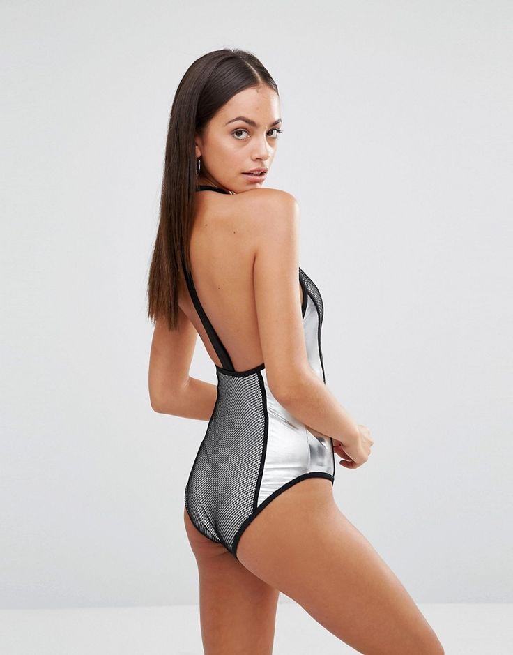 Imagen 2 deMissguied Fishnet Metallic Swimsuit