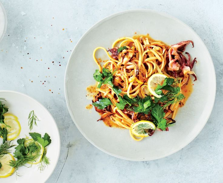 This squid pasta with fennel recipe is made for breezy summer evenings. All that's missing is the beach house.