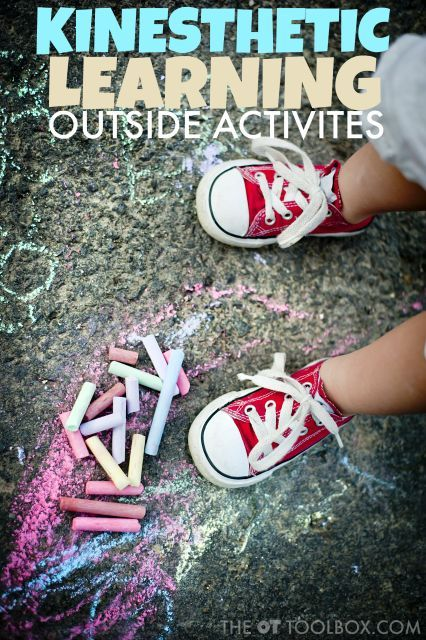 Outdoor kinesthetic learning activities for outdoors.