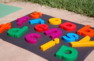 Great great idea  makes alphabet a company letter Sun bleached matching paper competitor game