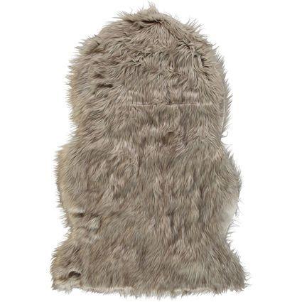 Grey Faux Fur Rug 61x180cm