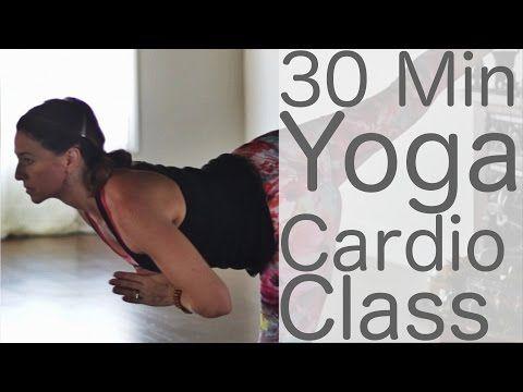 Yoga Cardio HIIT with Lesley Fightmaster - YouTube