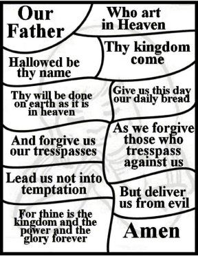 """Lord's Prayer for Children"" Free Lord's Prayer Coloring Pages, national day of prayer, vbs, and teaching children the Lord's Prayer."