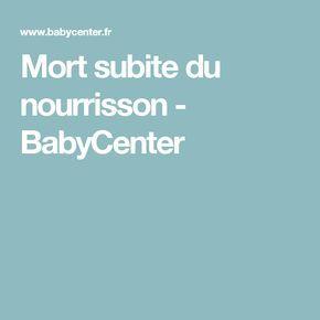 Mort subite du nourrisson - BabyCenter