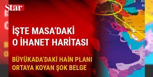 Büyükada'da yakalanan provokatörler Türkiye'yi parçalayıp sözde Kürt devletine bağlamışlar: Büyükada'da Uluslararası Af Örgütü'nün organize ettiği toplantıda konuşulan hain planların tüm detayları ortaya çıktı. Ele geçirilen belgeler, oynanan oyunu gözler önüne serdi. Büyükada'da 10 ajanın yaptığı toplantıda, İsveç Uyruklu Ali Ghravi'nin üzerinden çıkan dijital verilerde, Doğu ve Güneydoğu'su bölünmüş Türkiye haritası çıktı. Haritada Türkiye'deki yerlere Kürtçe isimler bile verilmiş.