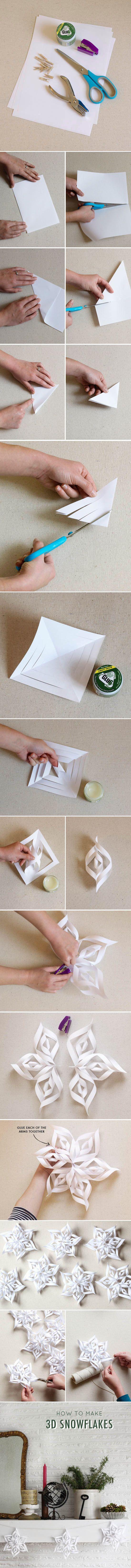 Guirnaldas de papel tridimensionales