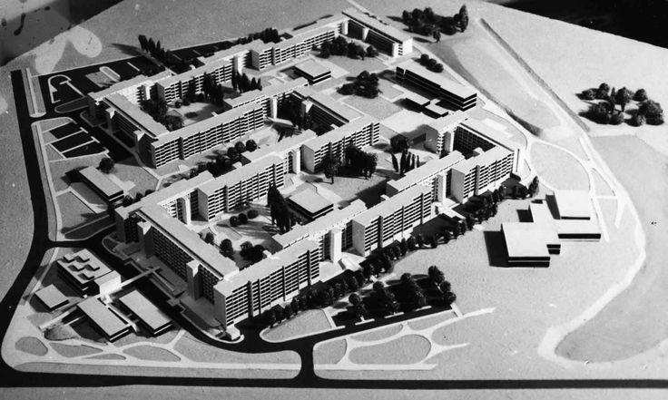 Oskar Hansen, makieta z góry, osiedle w Warszawie Przyczółek Grochowski, (LSC) projekt, 1963, fot. Muzeum ASP w Warszawie - photo 19