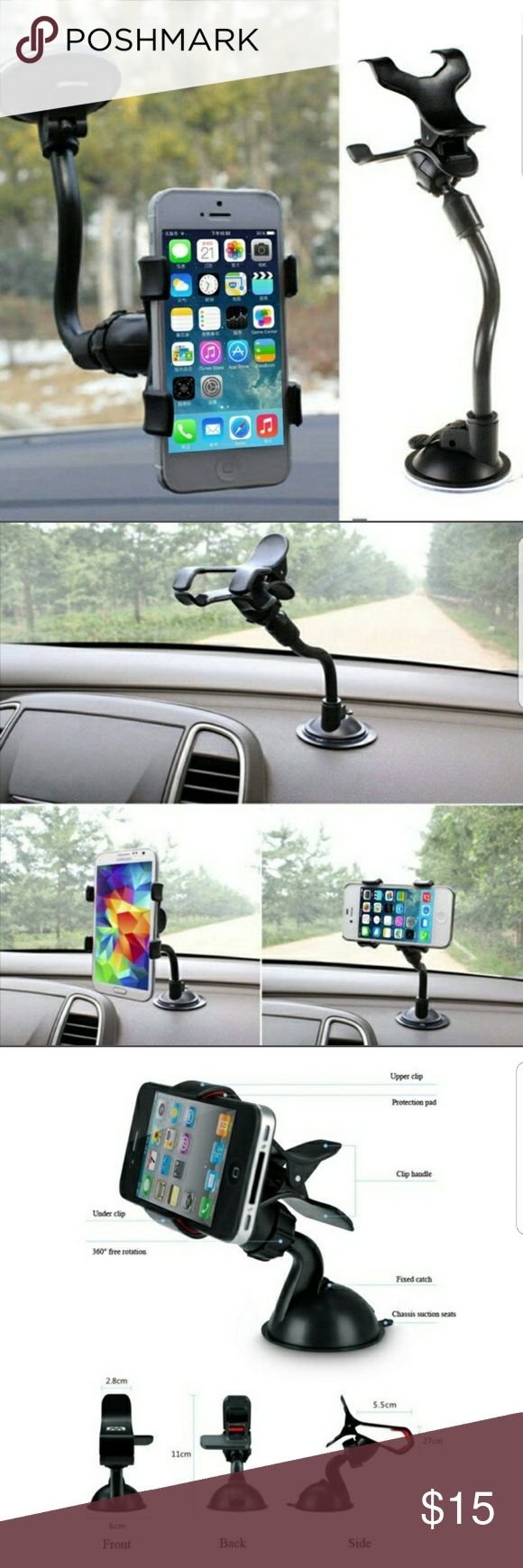 FREE UNIVERSAL CAR MOUNT WITH A BUNDLE OF 4 ITEMS Universal car mount for smartphones, GPS, premium Windshield Dashboard Car Mount Holder for All Kinds of Smart Phones Accessories