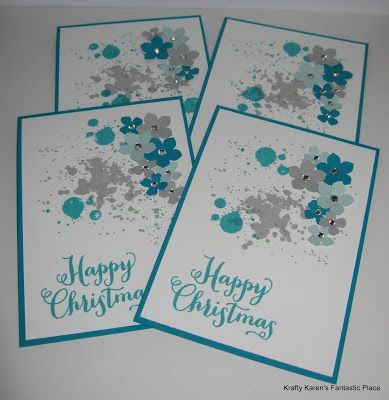 Krafty Karen's Fantastic Place ~ Gorgeous Grunge Christmas cards
