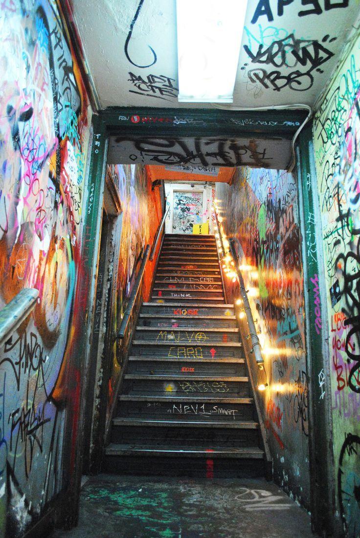 Stairs at funk n waffles