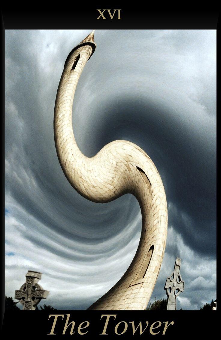 Tarot Card of The Tower, Flicr Paul Walker