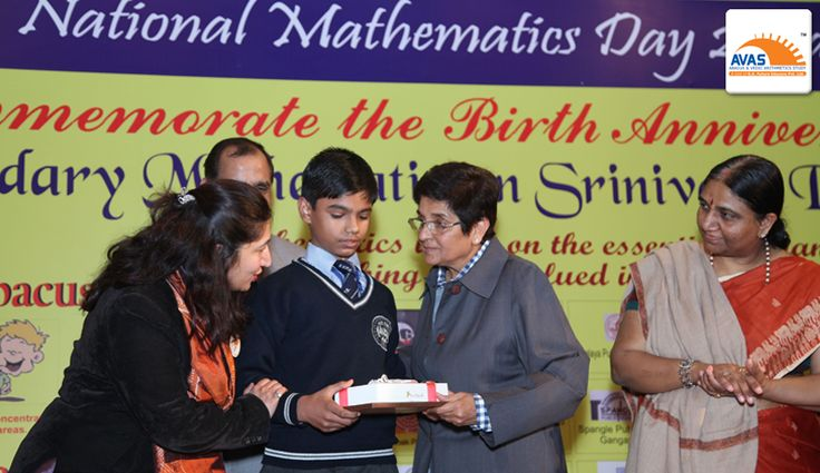 National Champion from Somervilla School, Badli honored by Dr Kiran Bedi in an event organized by avasindia
