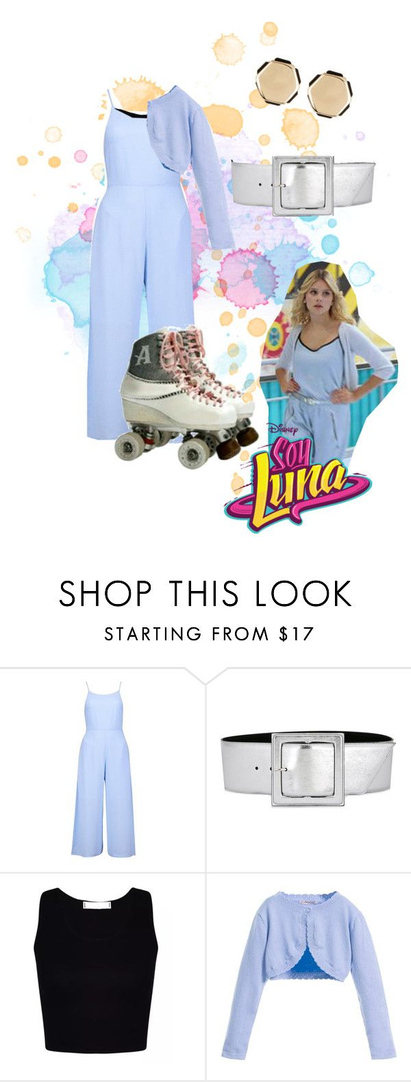 """""""soy luna"""" by maria-look on Polyvore featuring Boohoo, Yves Saint Laurent and 14th & Union"""
