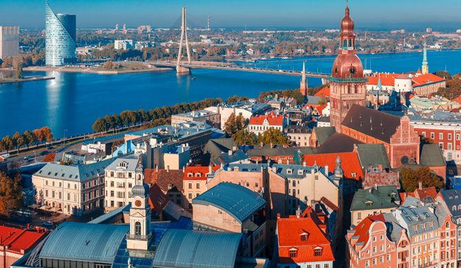 Discount UK Holidays 1-17 May, 24-25 Sept, 1-25 Oct, 5-23 Nov - Riga Discounted by 38% Riga, Latvia's capital, is set on the Baltic Sea at the mouth of the River Daugava. It's considered a cultural centre and is home to many museums and concert halls.  The city is also known for its wooden buildings, art nouveau architecture and medieval Old Town. The pedestrian-only Old Town has many shops...