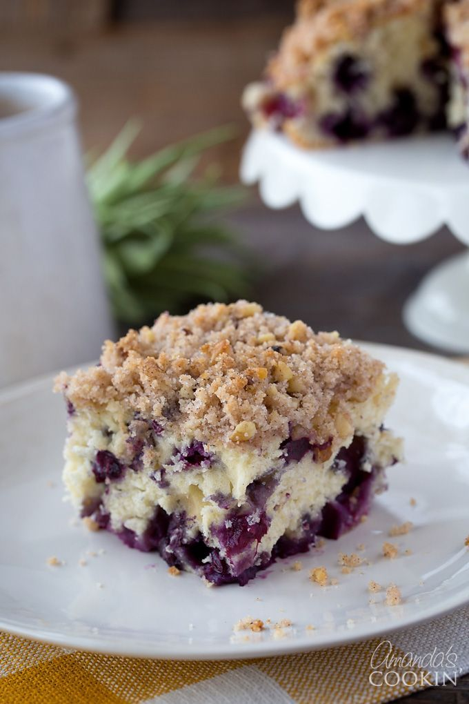 """This recipe would be good with other fruits too, such as raspberries, sour cherries, blackberries, or cranberries in the fall. So no matter what fruit you decide on, definitely add this blueberry breakfast cake to your """"to do"""" list!"""