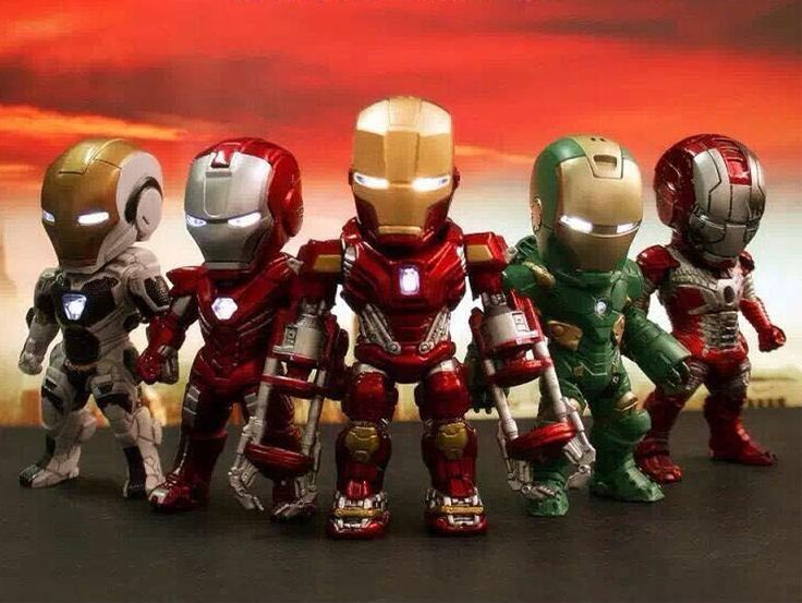 MARVEL IRON MAN KIDS NATIONS LED LIGHT UP ACTION FIGURE AVENGERS 3.5 INCH VER 5