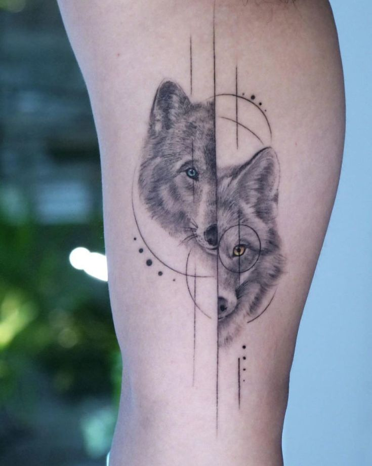 60 Amazing Wolf Tattoos The Best You 39 Ll Ever See Straight Blasted Wolf Tattoos For Women Geometric Wolf Tattoo Spirit Animal Tattoo