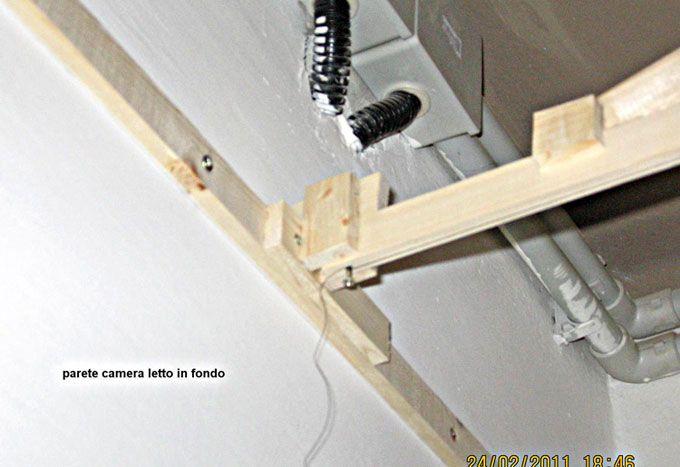 Fissaggio dei listelli perimetrali in legno