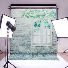 #Banggood 1.5x2m кирпичной стены окна этаж студии шелковые фотографии фоне Фото фон студии реквизит (1072058) #SuperDeals