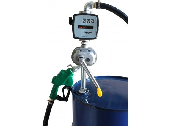 Super Flow Rotary Pump with mechanical flow meter for diesel, hose and diesel spout