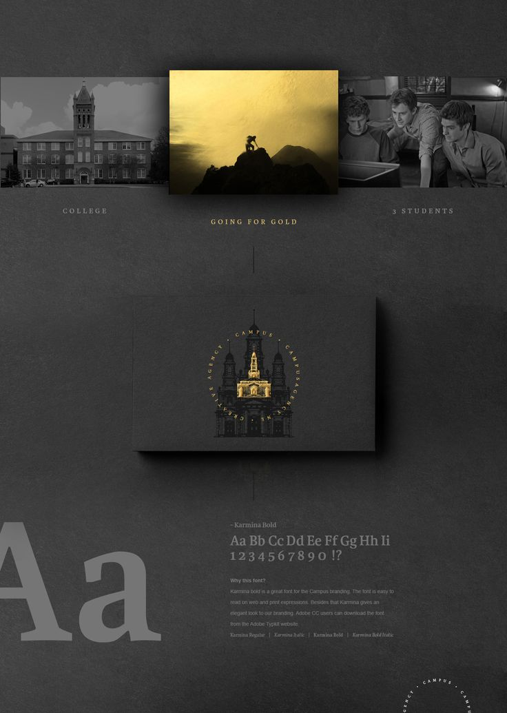 """Check out this @Behance project: """"Campus     A creative agency   Go for GOLD"""" https://www.behance.net/gallery/44403059/Campus-A-creative-agency-Go-for-GOLD"""