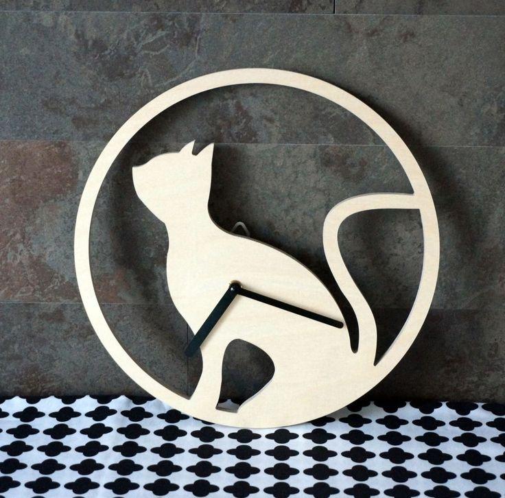 란 디자인 가구의 자작나무 고양이 시계 : 네이버 블로그