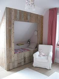 steigerhouten bedstee - Google zoeken For inspiration