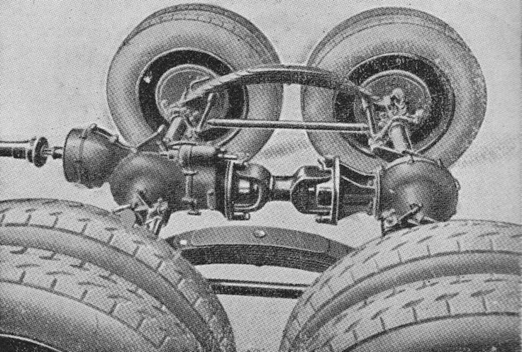 A Great Illustration Of A Walking Beam Tandem Axle Set Up