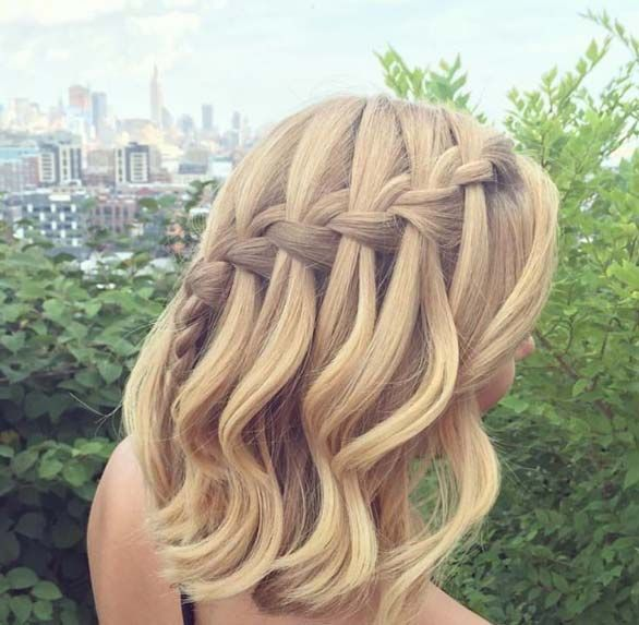 Best Cool Braiding Images On Pinterest Hairstyle Ideas - Hairstyles for short hair homecoming