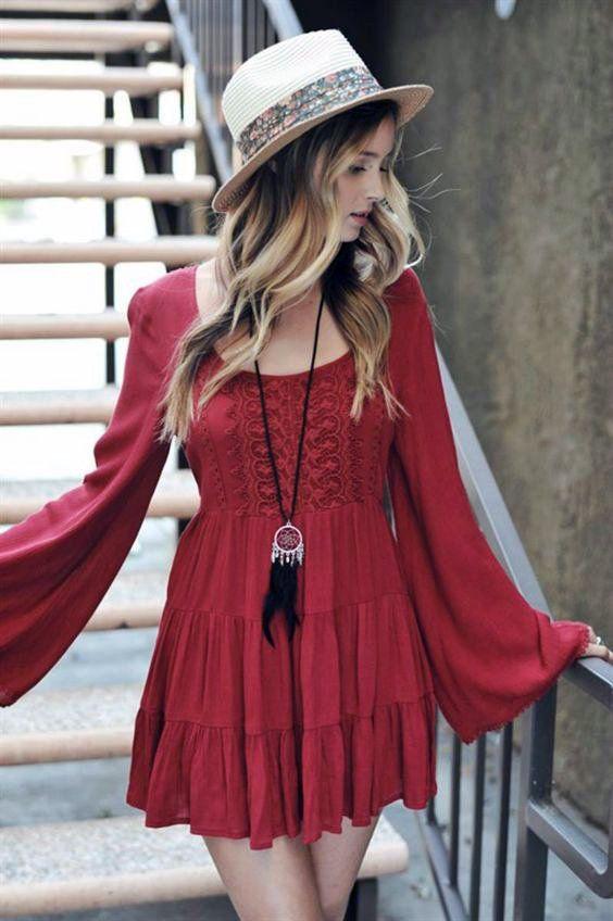 boho hipster dress