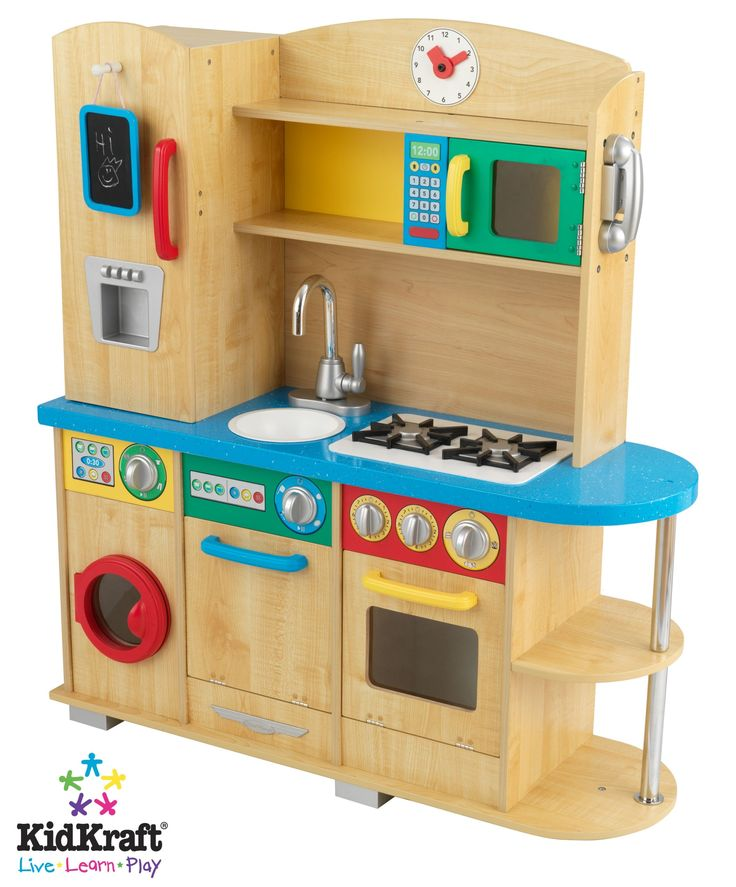 34 best unisex wooden toy kitchens images on pinterest for Toy kitchen set