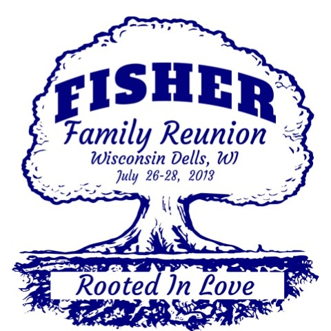 Family Reunion T Shirt Design FRO 2014. Classic Family Reunion Tree Design.  Add