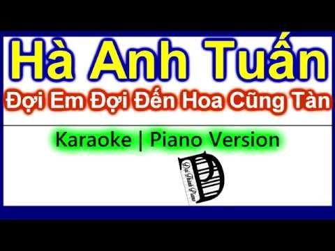 Đợi Em Đợi Đến Hoa Cũng Tàn - Hà Anh Tuấn (Karaoke + Lyrics)