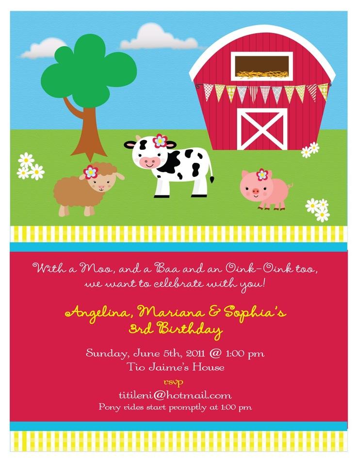 Pin Barnyard Animals Party Happy Birthday Napkins on Pinterest