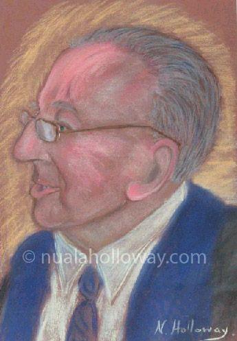 """Portrait of Leo Daly"" by Nuala Holloway - Pastel on Paper. #Westmeath #Writer #IrishArt #Portrait"