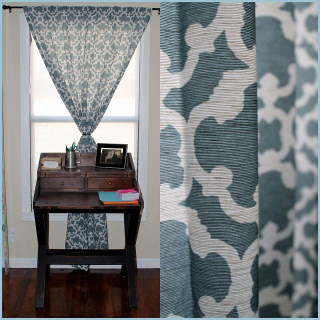 My New Dining Room Curtains Over Slidertarget Home Farrah Fretwork Curtain