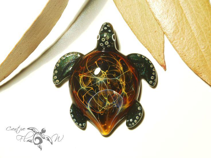 #space #glasswork #glassart #glassturtle #turtle # seaturtle #flamework #unique #cosmos #creativeflowglass