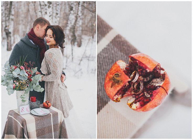 Благородный гранат: зимняя свадьба Алисы и Александра undefined
