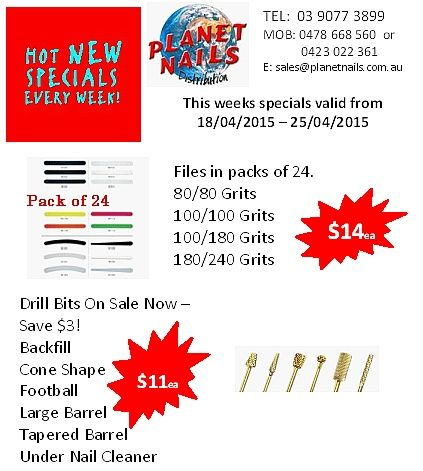 Hot specials for the week....
