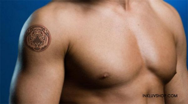 #Tiger is a great #animal & numerous people choose this kind of creature as the position of convergence on their #body. Tiger #Tattoo a combination of ferocious strength & immense focus. It represents fearlessness, royalty, strength, power, protection & passion. Buy Tiger Temptat at http://goo.gl/3MC9cU for just Rs. 150. - Inkluv #fortheloveofit