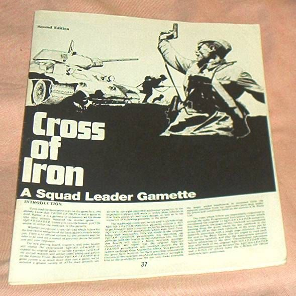 Nice Original SQUAD LEADER, Cross Of Iron, lightly used RULES Booklet, Second Edition, Avalon Hill, '78, Exc. by brotoys1 on Etsy